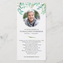 Eucalyptus Funeral Thank You Card