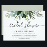 "Eucalyptus Green Foliage Bridal Shower Invitation<br><div class=""desc"">This bridal shower invitation features painted watercolor eucalyptus and green leaves. For more advanced customization of this design,  Please click the ""Customize further"" link.  Matching items are also available.</div>"