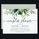 "Eucalyptus Green Foliage Couples Shower Invitation<br><div class=""desc"">This couples shower invitation features painted watercolor eucalyptus and green leaves. For more advanced customization of this design,  Please click the ""Customize further"" link.  Matching items are also available.</div>"