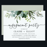 "Eucalyptus Green Foliage Engagement Party Invitation<br><div class=""desc"">This engagement party invitation features painted watercolor eucalyptus and green leaves. For more advanced customization of this design,  Please click the ""Customize further"" link.  Matching items are also available.</div>"