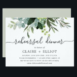 "Eucalyptus Green Foliage Rehearsal Dinner Invitation<br><div class=""desc"">This rehearsal dinner invitation features painted watercolor eucalyptus and green leaves. For more advanced customization of this design,  Please click the ""Customize further"" link.  Matching items are also available.</div>"