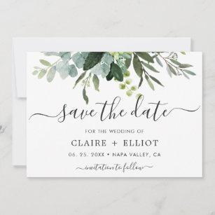 Eucalyptus Save The Date Invitation P21 Save The Date Templett Editable Save The Date Save Our Date Eucalyptus Invite Save The Date