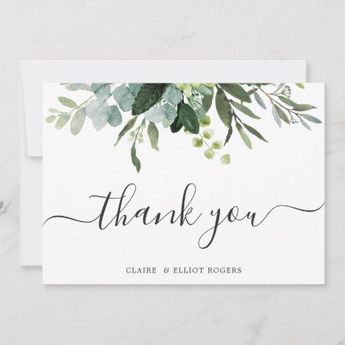 Eucalyptus Green Foliage Thank You Card