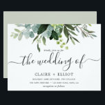"Eucalyptus Green Foliage Wedding Invitation<br><div class=""desc"">This wedding invitation features painted watercolor eucalyptus,  green leaves with modern calligraphy. For more advanced customization of this design,  Please click the ""Customize further"" link.  Matching items are also available.</div>"