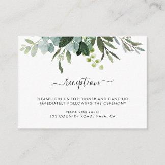 Eucalyptus Green Foliage Wedding Reception Enclosure Card