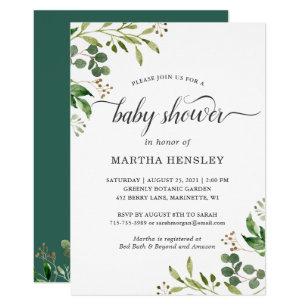 f103930a81e6 Green Baby Shower Invitations