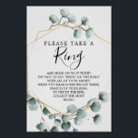 """Eucalyptus Greenery Bridal Shower Ring Game Poster<br><div class=""""desc"""">This fun Ring game is sure to be a huge hit at your shower!</div>"""