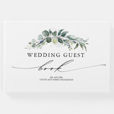 Eucalyptus Greenery Foliage Wedding Guest Book