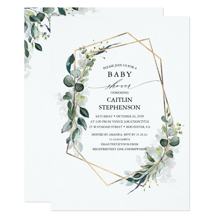 Geometric Modern Baby Shower Invitation
