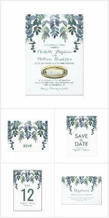 Eucalyptus Greenery Gum Tree Invitation Suite