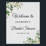 "Eucalyptus Greenery Leaves Chic Bridal Shower Sign<br><div class=""desc"">Eucalyptus Greenery Leaves Chic Bridal Shower Welcome Sign Poster</div>"