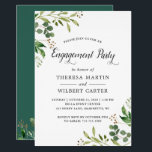 "Eucalyptus Greenery Leaves Chic Engagement Party Invitation<br><div class=""desc"">Eucalyptus Greenery Leaves Chic Engagement Party Invitation.</div>"