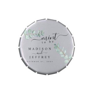 Eucalyptus Greenery Minimalist Wedding Mint Candy Tin