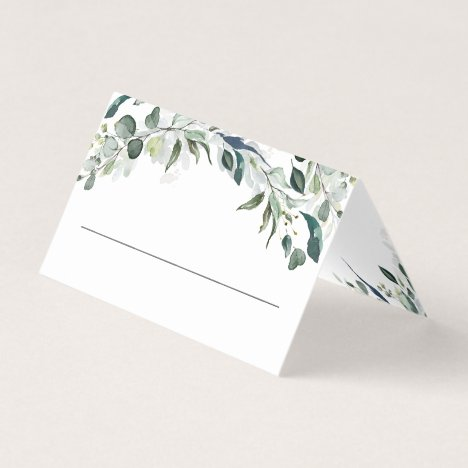 Eucalyptus Greenery Watercolor Wedding Place Card