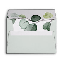 Eucalyptus Greenery Wedding Return Address 5x7 Envelope