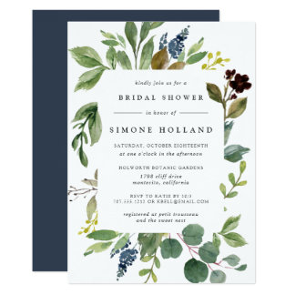 Eucalyptus Grove Bridal Shower Invitation