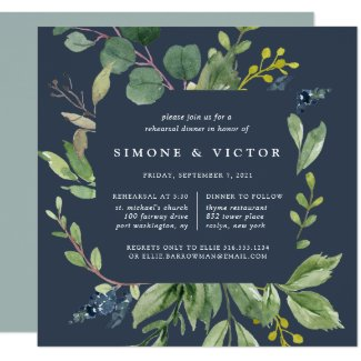 Eucalyptus Grove Rehearsal Dinner Invitation