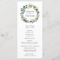 Eucalyptus Grove Wedding Ceremony Program
