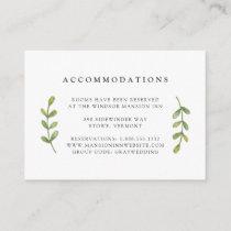 Eucalyptus Grove Wedding Hotel Accommodation Cards
