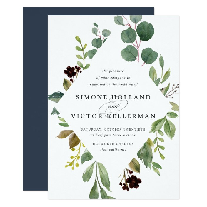 Eucalyptus Grove Wedding Invitation Zazzle Com