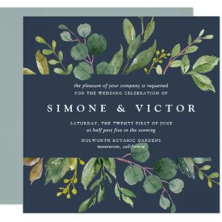 Eucalyptus Grove Wedding Invitation   Square