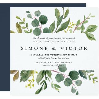 Eucalyptus Grove Wedding Invitation | Square