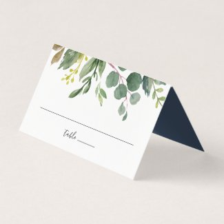 Eucalyptus Grove Wedding Place Card