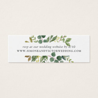 Eucalyptus Grove Wedding Website RSVP Cards