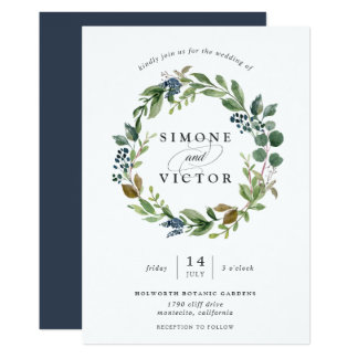 Eucalyptus Grove Wreath Wedding Invitation