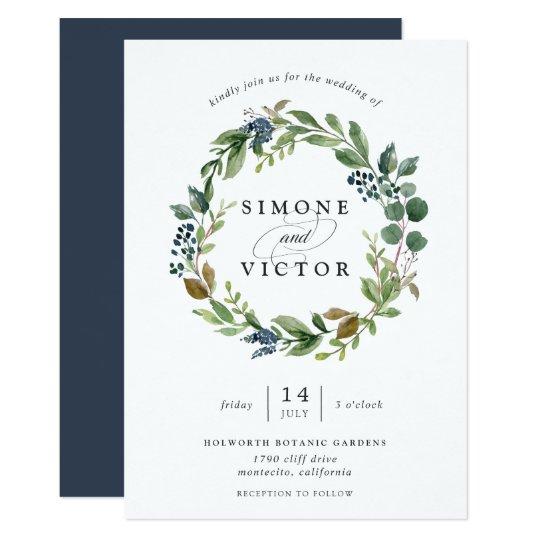 Eucalyptus Grove Wreath Wedding Invitation Zazzle Com