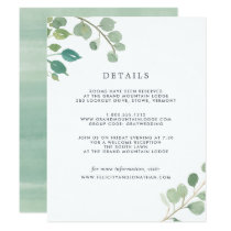 Eucalyptus | Guest Details Card