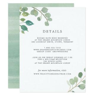 Eucalyptus   Guest Details Card