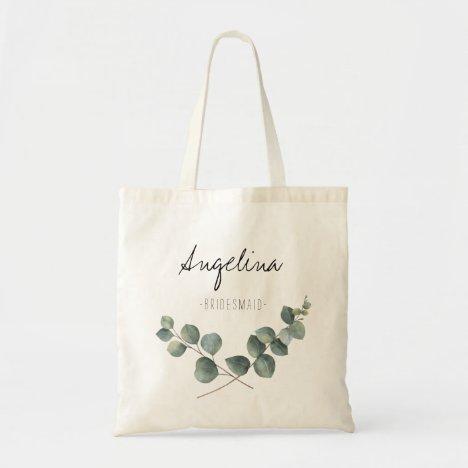 Eucalyptus leaf Bridesmaid favor Tote Bag