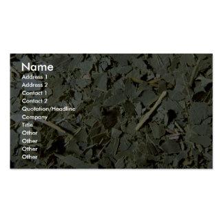 Eucalyptus leaves business card