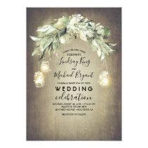 Eucalyptus Leaves Greenery Rustic Country Wedding Invitation