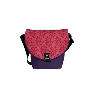 Eucalyptus leaves pattern (Red) Courier Bag