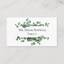 Eucalyptus Leaves Personalized Wedding Place Card