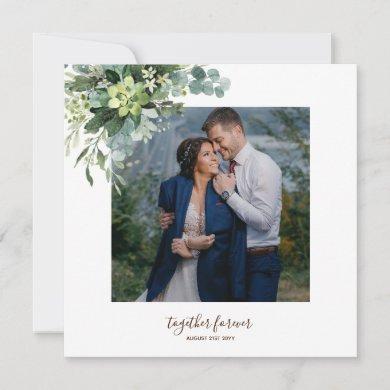 Eucalyptus Leaves Wedding Newlyweds Bridal Party