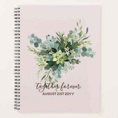 Eucalyptus Leaves Wedding Newlyweds Bridal Party Planner