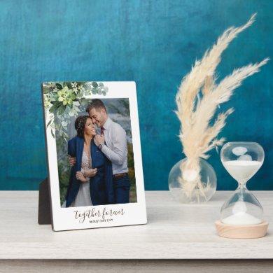 Eucalyptus Leaves Wedding Newlyweds Bridal Party Plaque
