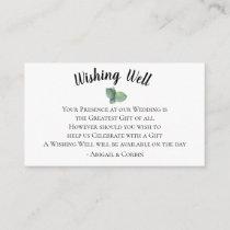 Eucalyptus Leaves Wedding Wishing Well Enclosure Card