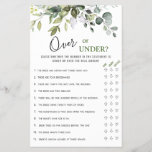 """Eucalyptus Over Or Under Bridal Shower Game<br><div class=""""desc"""">Enjoy your bridal shower with these funny games. Personalize with the bride to be's name and date of shower.  If you need help,  contact me please.</div>"""