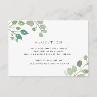 Eucalyptus Reception Enclosure Card