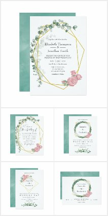 Eucalyptus Rose Geometric Wedding