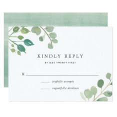 Eucalyptus Rsvp Card at Zazzle