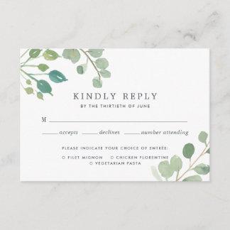 Eucalyptus RSVP Card with Meal Choice