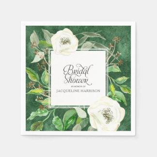 Eucalyptus Seed Leaf Foliage Wreath BOHO Wild Rose Paper Napkin