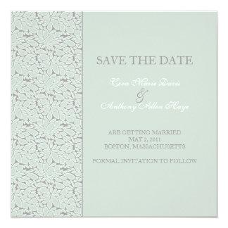Eucalyptus Stone save the date Card
