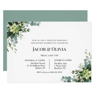 Eucalyptus Wedding Rehearsal Dinner invite