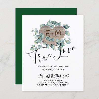 Eucalyptus Wedding - Watercolor Greenery Monogram